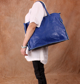 free shipping casual women's fashion genuine leather shoulder Thick cowhide oversized bags messenger bag size 46*34*18cm