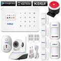 Câmera ip sem fio wi-fi HD Aplicativo remoto controlador GSM sms chamada de Sistema de Alarme Home Inteligente Sistema de Alarme da Segurança Home do Assaltante G18
