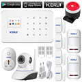 Wireless wifi ip camera HD App remote controller GSM sms call Home Alarm System Smart Home Burglar Security Alarm System G18