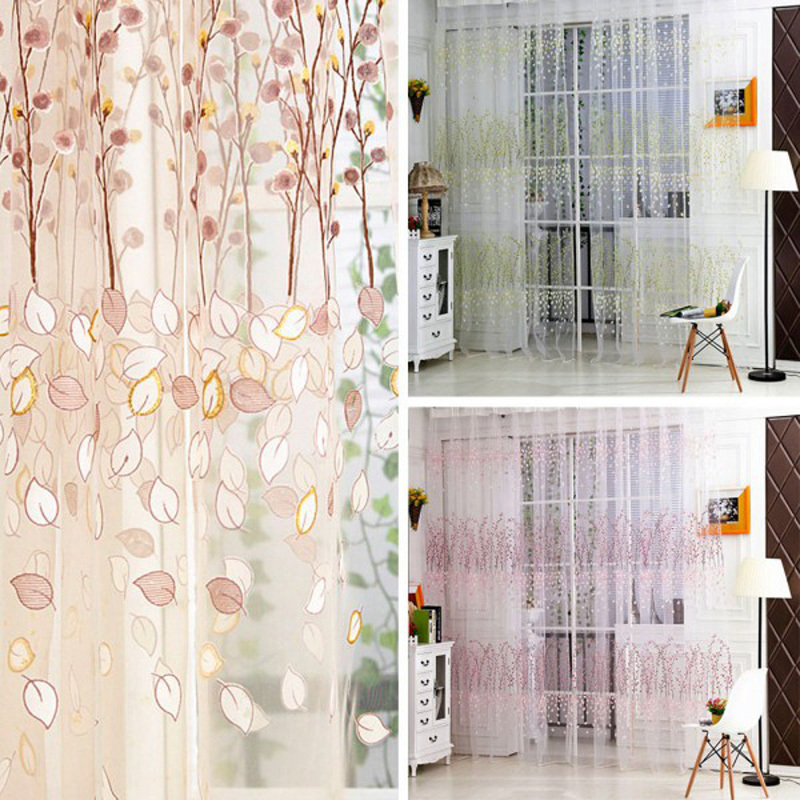 Aliexpress.com : Buy 1 PC Summer Style Plum Flower Curtains For Living Room  Window Curtain Tulle Sheer Curtains Cortinas Rideaux 200*100cm From  Reliable ...