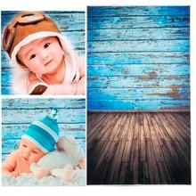 3x5FT Retro Azul Tablero de Vinilo Photography Estudio Telón de Fondo Props