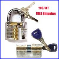 Hot Sale Practice Lock Set Transparent Practice Lock With Transparent AB Kaba Crescent Lock Tools Free