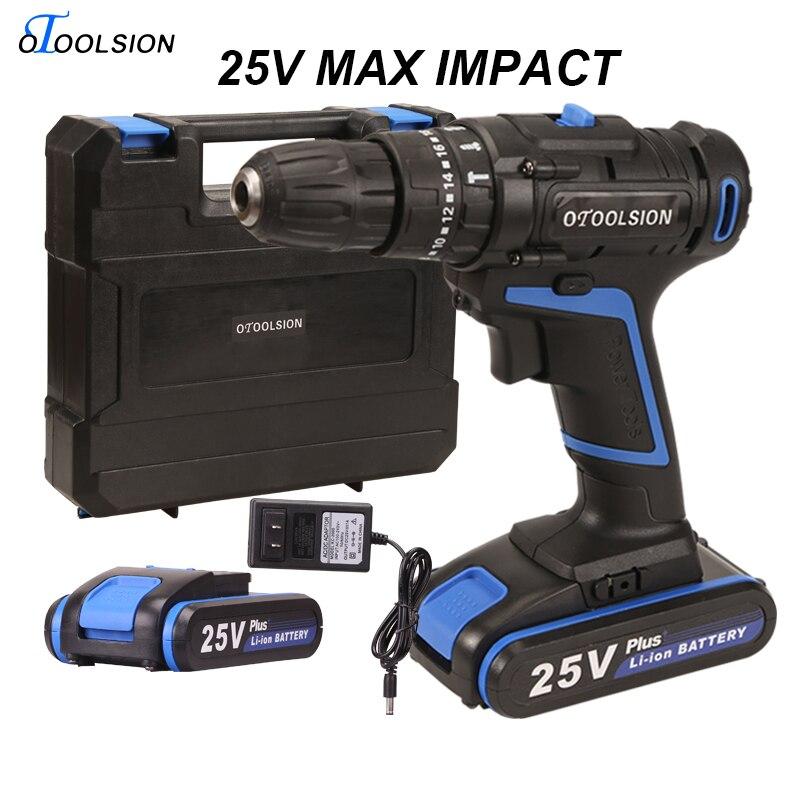 1.5ah 25 V Impact batterie au Lithium perceuse électrique sans fil tournevis Rechargeable Impact perceuse sans fil tournevis électrique