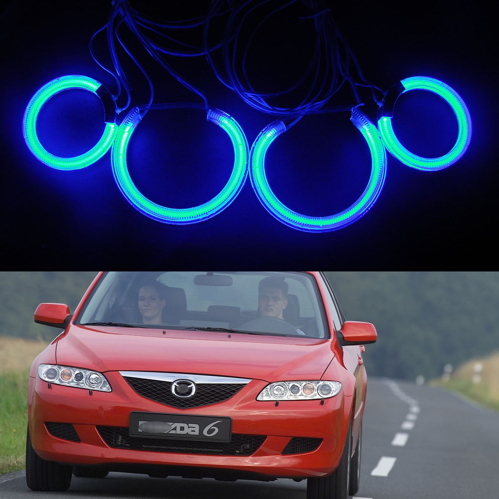 Excellent CCFL Angel Eyes Halo ring light kit For Mazda 6 Mazda6 2003 2004 2005 2006 2007 HIgh bright Angel eye 12V Car-styling for mazda rx8 rx 8 2004 2008 excellent led angel eyes ultrabright illumination smd led angel eyes halo ring kit