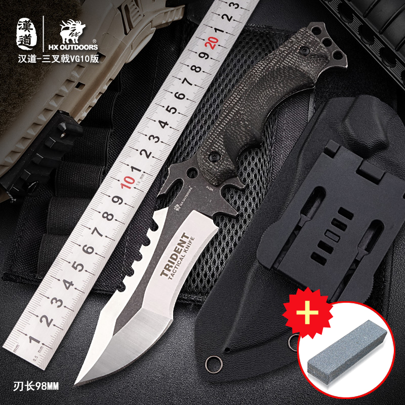 HX OUTDOORS VG10 Blade Mountaineering Camping Outdoor Sports Survival Tactics Multifunction Survival Hunting gift Knife hx small mercenary survival hunting knife d2 steel blade fixed blade knife straight camping knives multi tactical hand tools