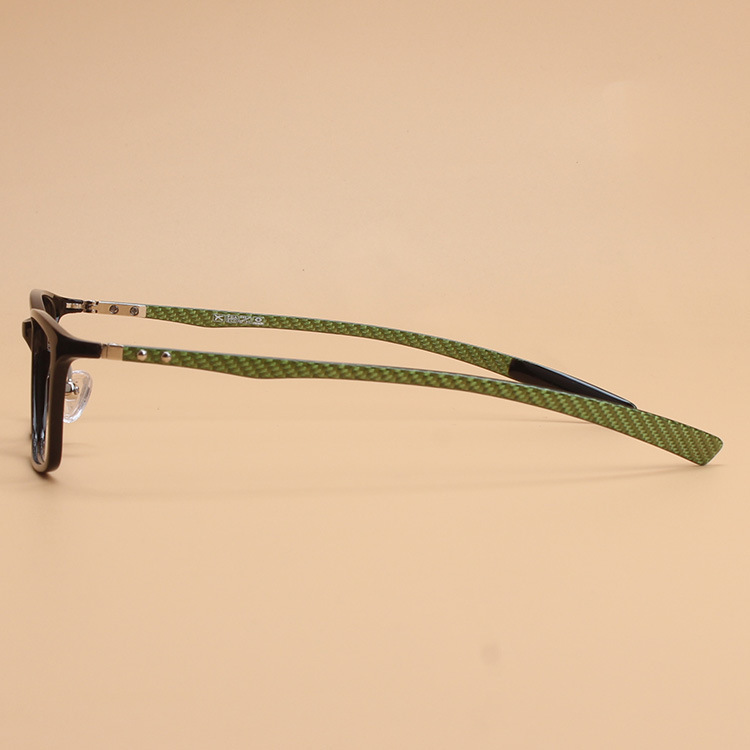 Original Quality Ultra Light Ultem Carbon Fiber Tungsten Optical Myopia Glasses Frame Men Women Unisex Square Eyewear Blue Green Leg Men's Eyewear Frames