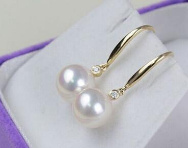 Free shipping  gorgeous AAA++ 10-11mm south sea round white pearl earring 14Free shipping  gorgeous AAA++ 10-11mm south sea round white pearl earring 14