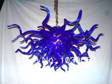 Free Shipping Small Blue Crystal Chandelier Stained Glass Lamp цена и фото