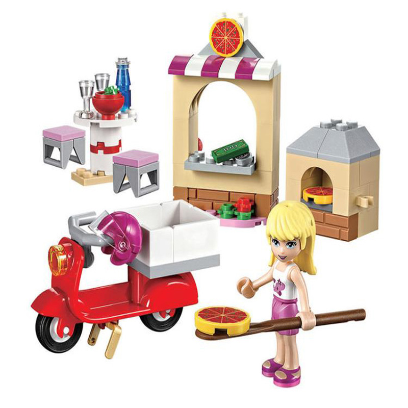 BELA Friends For Girl Stephanie Pizzeria Building Brick Blocks Sets Lepine Gifts Toy Compatible With 41092 Pizza Shop 2017 hot sale girls city dream house building brick blocks sets gift toys for children compatible with lepine friends