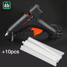 Free Shipping 100W DIY Hot Melt Glue Gun Black Sticks Trigger Art Craft Repair Tool with Light GG-5 110V-240V цены