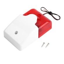 Сигнальный мигающий светильник стробоскоп Проводная Стробоскопическая сирена прочная 12 В звуковая сирена для 99 зон PSTN/GSM беспроводная домашняя охранная сигнализация