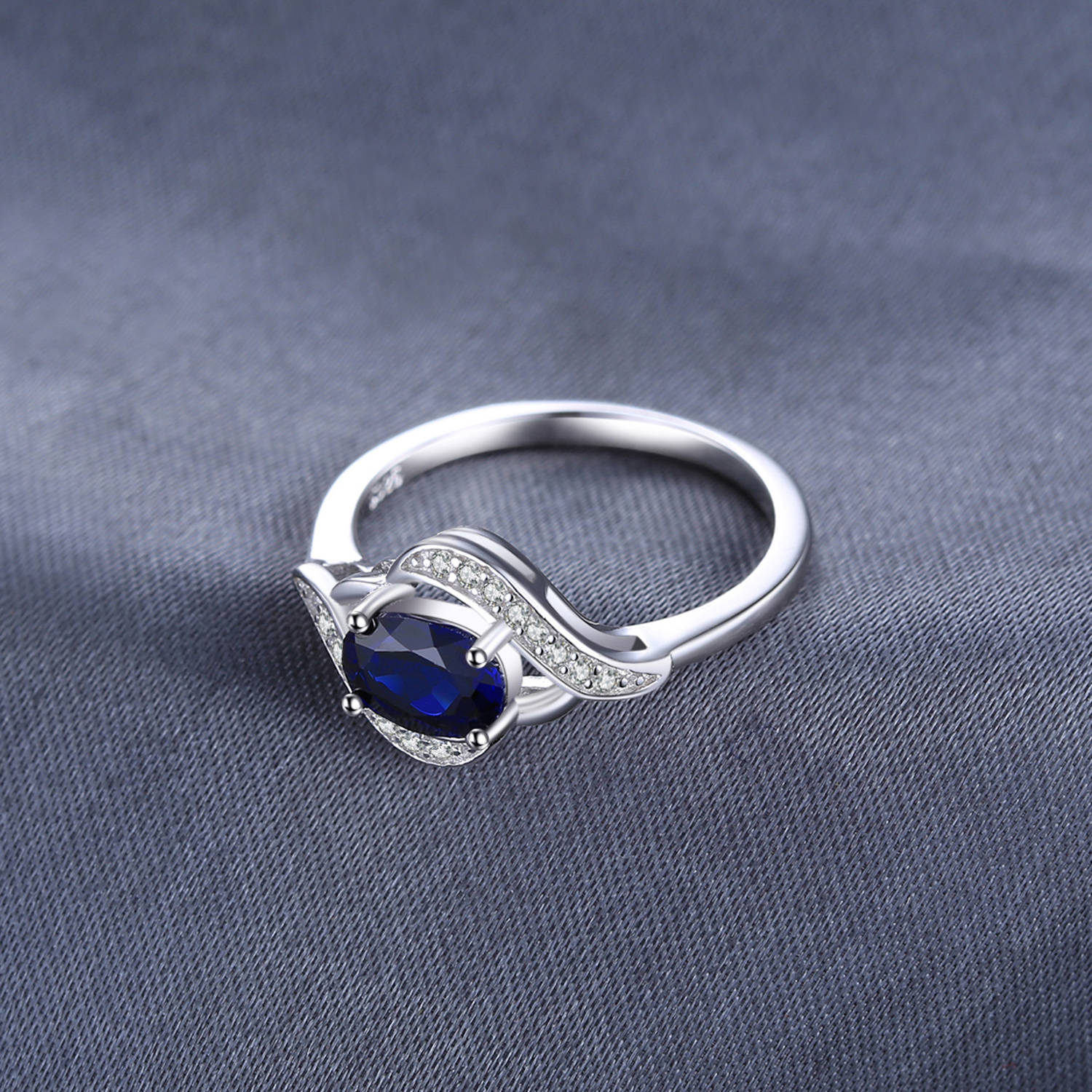 Jewelrypalace Created Blue Sapphire Ring 925 Sterling Silver Rings for Women Halo Engagement Ring Silver 925 Jewelrypalace Created Blue Sapphire Ring 925 Sterling Silver Rings for Women Halo Engagement Ring Silver 925 Gemstone Jewelry