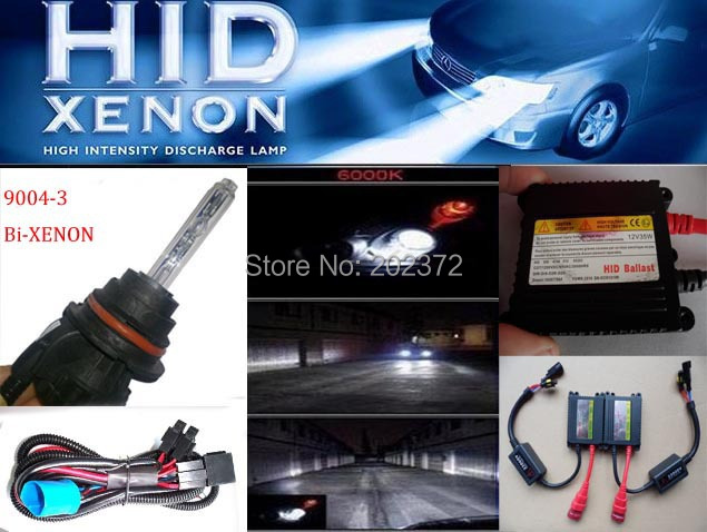 9004 Bi-xenon HID Conversion kit  headlights, 9004-3 12v 35w 8000K 43000k 6000k