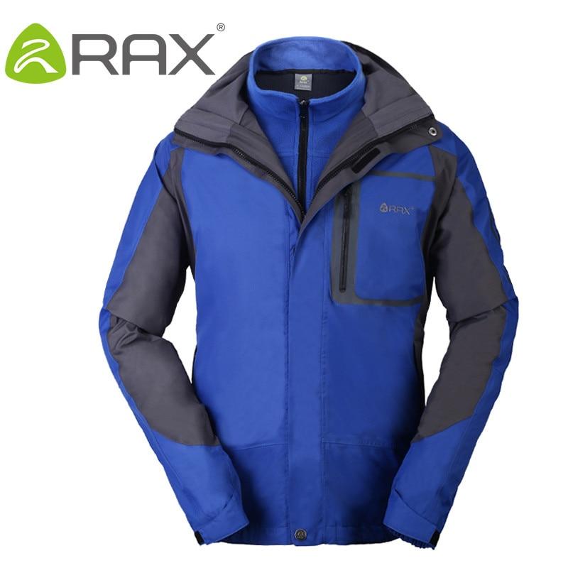 Rax Winter Waterproof Outdoor Hiking Softshell Jacket For Men and Women Windbreaker 3 in1 Jacket Women Men Fleece Jackets Women