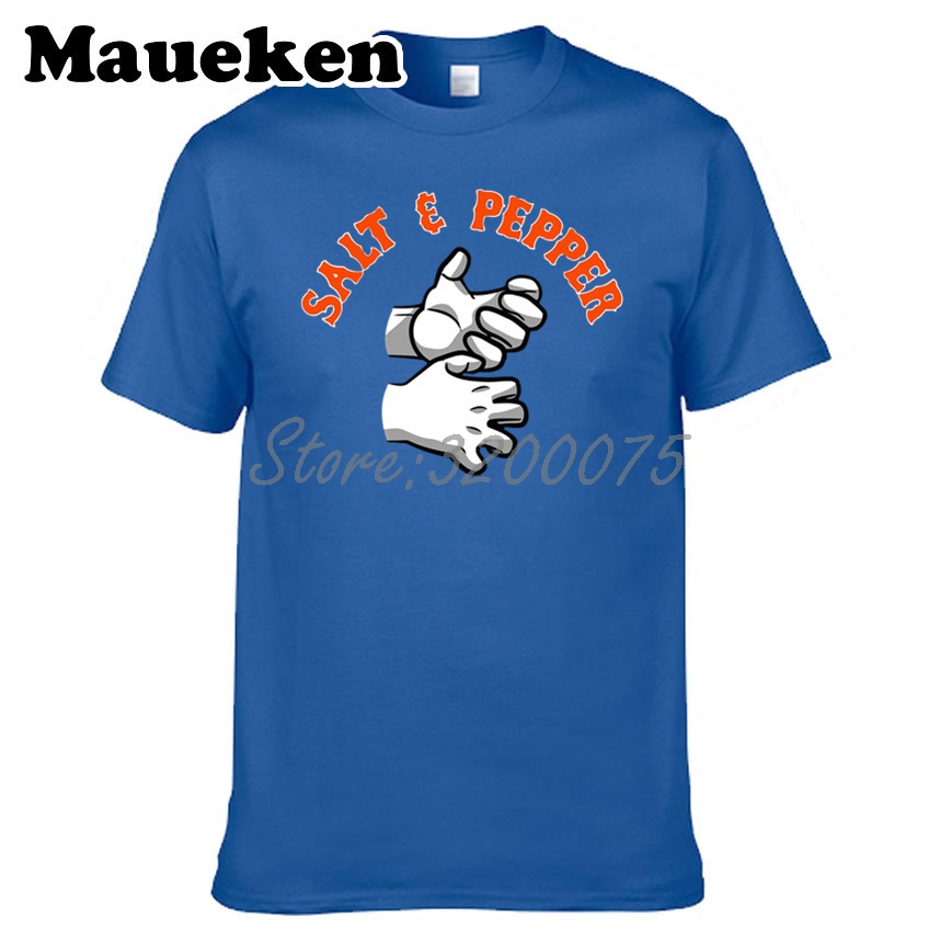 hot sale online 3f23e be31e US $16.05 15% OFF|Men Yoenis Cespedes 52 Todd Frazier New York Salt and  Peppe T shirt Clothes T Shirt tshirt for Mets fans gift tee W18091115-in ...