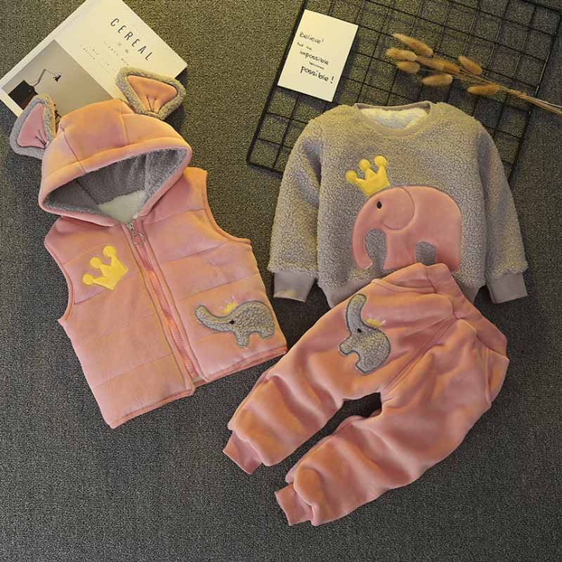 BibiCola 2018 baby winter clothing sets newborn hoodie vest+long sleeve top+casual pants 3pcs sets fashion cotton clothes sets shein kiddie toddler boys letter print drawstring dip hem hoodie and pants sets clothing 2019 spring long sleeve casual suit