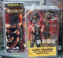 NECA figura de acción del rey pirata At Worlds End Capt Teague, modelo de juguete de PVC, edición limitada, 18cm