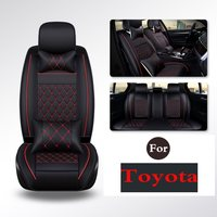 Black & Leather Seat Covers SUV Van PU Vinyle Replacement Pads Covers For Toyota Highlander Camry Levin Yaris E'Z Nv200