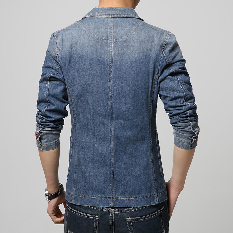 2017 Denim Jackets suit slim fit Blazer suit, men's fashion Light ...