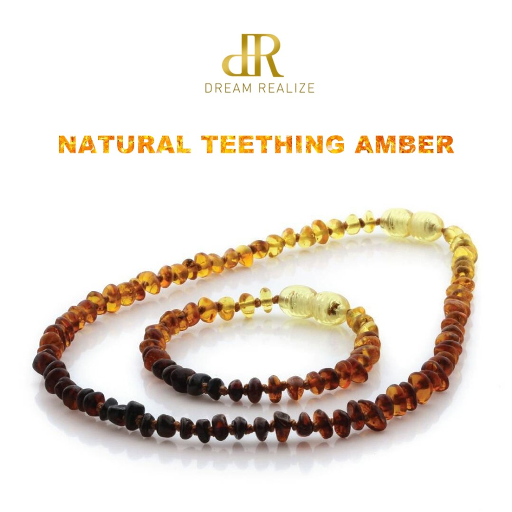 HTB19W4RKbSYBuNjSspfq6AZCpXaO DR Classic Natural Amber Necklace Supply Certificate Authenticity Genuine Baltic Amber Stone Baby Necklace Gift 10 Color 14-33cm