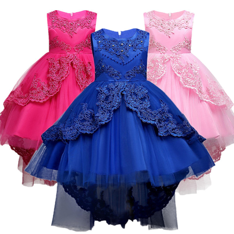 Kids Formal Dress For Girls Clothes Flower Pageant Birthday Party Princess Dress Girl Clothes 14 years