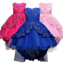 Summer Kids Formal Dress For Girls Clothes Flower Pageant Birthday Party Princess Dress Girl Clothes 14 Years(China)