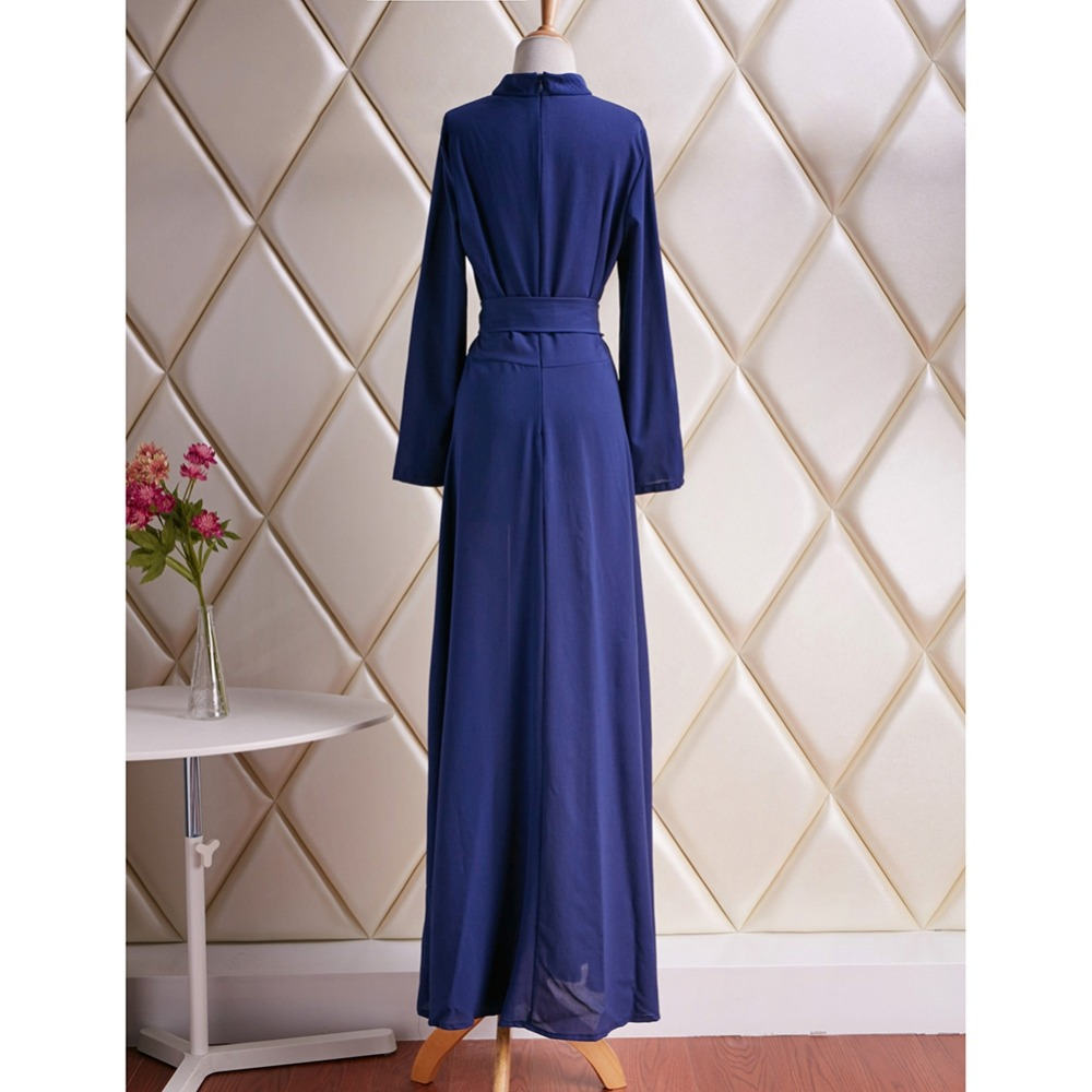 5596c20b9b0 Elegant Women s Kaftan Jilbab Islamic Muslim Abaya Boho Evening Party Long  Sleeve Vintage Ball Gown Long Sleeve Long Maxi Dress-in Dresses from Women s  ...