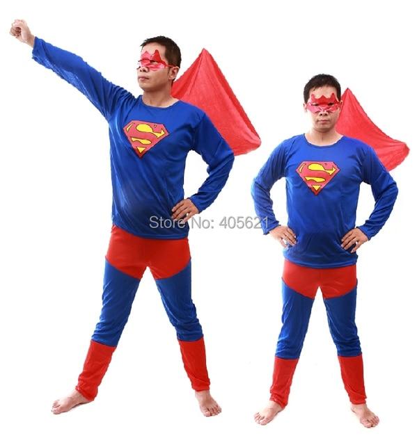 superhero adult superman clothing classic halloween costumes christmas makeup cosplay characters dress masquerade clothes - Clothes Halloween