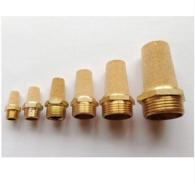 Connecteur de filtre en laiton pneumatique silencieux, raccord BSP bsl-01, 1/4 pouces, 1/4 pouces, 10 pièces par lot