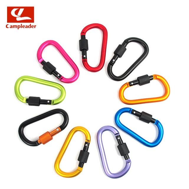 8cm Aluminum Alloy D-Ring Key Chain 8