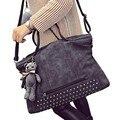 2017 New Brand Women Handbag Luxury Matte PU leather Large Big Bag Original Shoulder Messenger Bags Tote Bear Pendant S-2067