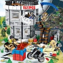 Военные игровые сцены brickmania pubg war battery moc строительный блок мотоцикл пистолет кирпич армия Ghillie костюм Фигурки игрушки