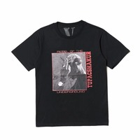 Vlone Spring New T Shirts Men Women 1 1 High Quality Pop Up Papking Fragment Top