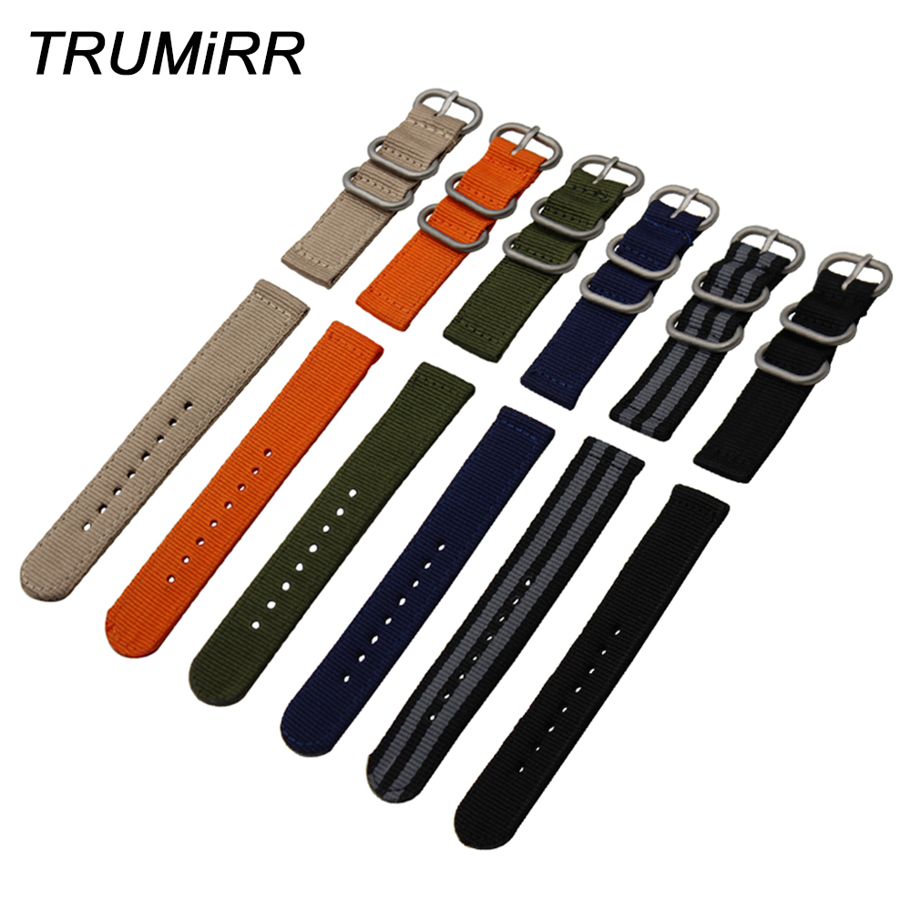 Genuine Nylon Watchband 18mm 20mm 22mm 24mm Universal Watch Band Zulu Strap Sport Fabric Wrist Bracelet Black Blue Brown Orange nylon watch band zulu strap for hamilon men women fabric watchband stainless steel pin buckle wrist bracelet 18mm 20mm 22mm 24mm