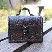 Antique vintage old storage box suitcase box jewelry box desk orgainzer