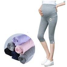 Летние Леггинсы для беременных брюки из хлопка Одежда для беременных большого размера Капри для живота шорты тонкие брюки для женщин 100 кг