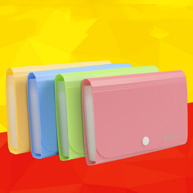 1 pcs lovely colorful a6 accordion style mini bills receipt file document bag pouch folder card holder organizer file holder - Accordion Folder