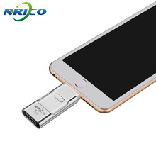 Usb Flash Drive Nrico 8GB/16gb U Disk 64GB IOS Pen Drive 32GB Plus OTG Lightning For iPhone 6 6s 7 Mac/PC