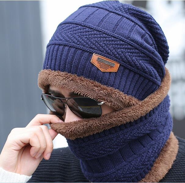 2017 Man's Winter Balaclava fur Hat Thickened  Face Windproof Skating Mask Beanies Skull Scarf Helmet Ear Cap Combo protective outdoor war game military skull half face shield mask black