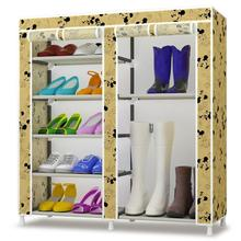 The new Korean simple shoe storage multilayer wrought iron double combinations dust cloth