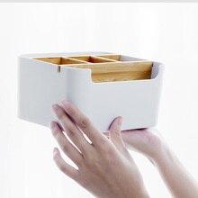 Originele Xiaomi Mijia Bamboe Fibre Afneembare Organiser Box Sub Grid Ontwerp Cosmetische Opbergdoos Draagbare Case Voor Badkamer