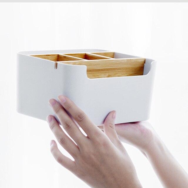 オリジナル Xiaomi Mijia 竹ファイバー着脱式オーガナイザーボックスサブグリッドデザイン化粧品収納ボックスのための浴室