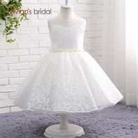 2017 New Ball Gown Flower Girl Dresses 2017 Beading Lace Girls Pageant Gown First Communion Dresses