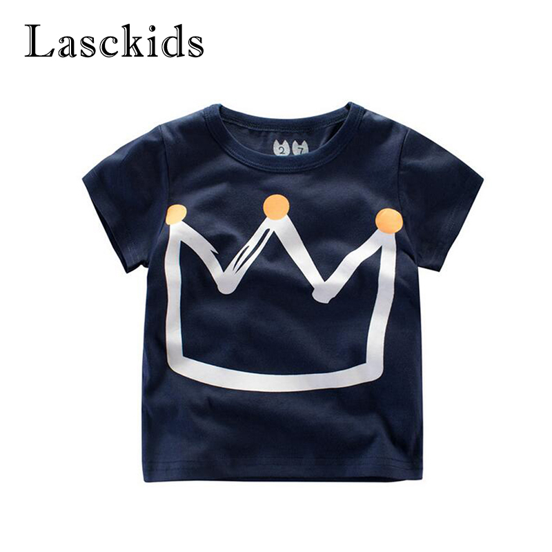 Toddler Baby t shirt Boys Short Sleeve Tops Boy T-shirts Children Summer Cotton Crown Sports Kids T-shirt Children Cute T-shirts summer t shirts for boys cotton kids shirts dinosaur short sleeve pullover clothes v neck boy t shirt fashion children clothing