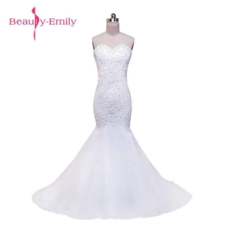 Vestidos de anos blanco belleza-emily rebordear sirena sexy blanco ...