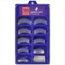100 шт./лот, прозрачные накладные кривые императрицы, поддельные акриловые кончики для французского дизайна ногтей, салонные накладные кончики для ногтей