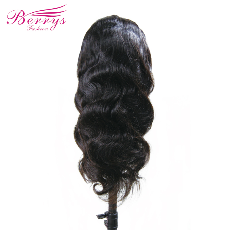 TRANSPARENT Full Lace Wig Body Wave Brazilian Virgin Human Hair Wigs Natural Hairline With Baby Hair