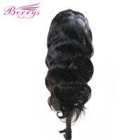 Прозрачный парик тело волна бразильские волос парики натуральных волос с ребенком волос 130% плотность Berrys Мода