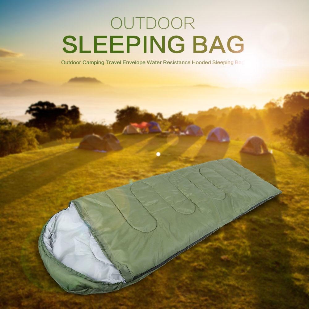 Открытый спальный мешок профессиональные конверт спальный мешок складной Водонепроницаемость с капюшоном Хлопок для Открытый Отдых Путешествия