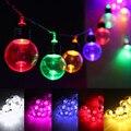 10 м светодиодный светильник в форме шара  лампы для улицы  многоцветные рождественские гирлянды для свадебной вечеринки  домашний декор  но...